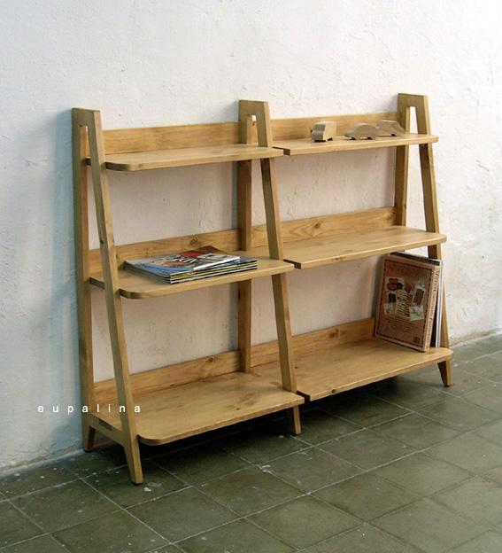 Eupalina muebles - Estanterias pequenas de madera ...